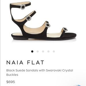 NAIA Flat Jimmy Choo with Swarovski Crystals